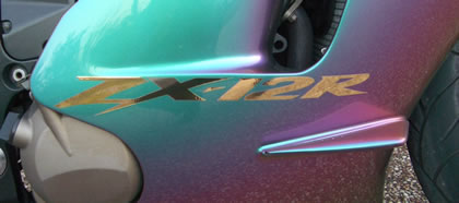 Kawasaki ZX-12R Decal 2003 Model 1 colour
