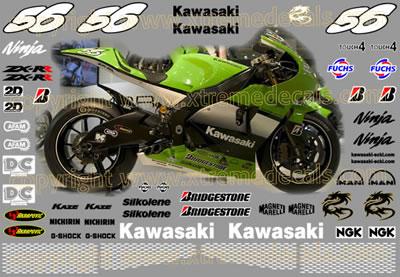 Kawasaki ZX-RR Ninja Race Decal Set 2005 Style