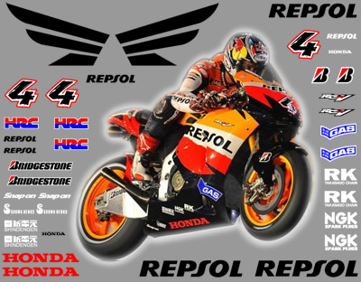 2010 Repsol Honda Decal kit Dovitsioso