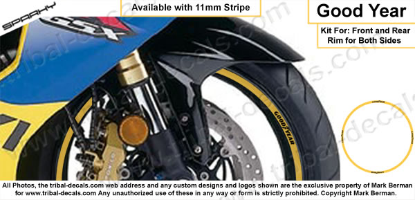 Wheel Rim Decal Kit Goodyear