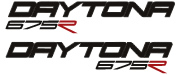 A pair of Triumph Daytona 675R Decals 2 colour