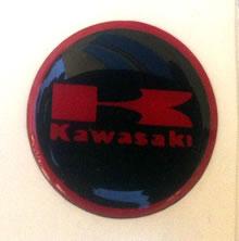 Domed Kawasaki Badge