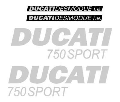 Ducati 750 Decal set 2001