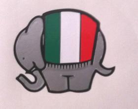 Ducati Duke Elephant decal