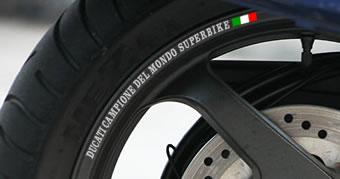 Ducati Campione de mondo Superbike Rim Decals