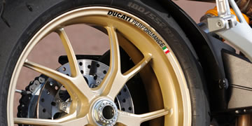 Ducati Performance Rim Decal set