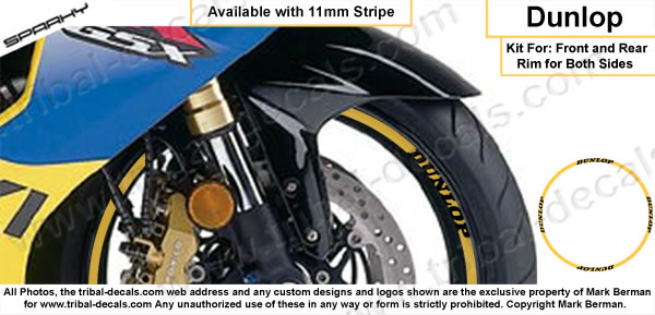 Wheel Rim Decal Kit Dunlop