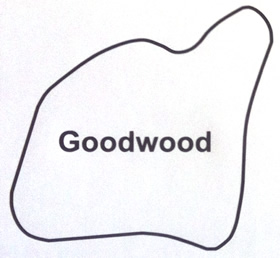 Goodwood Circuit Map Decal