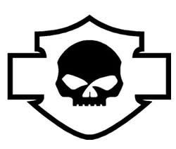 Harley Davidson Willie G Skull Decal