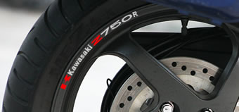 Kawasaki Z750R Rim Decal set