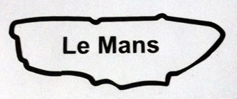 Le Mans Circuit Map Decal