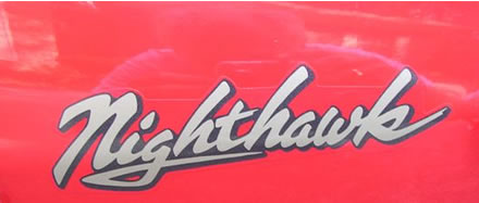 Nighthawk Decal - outlined for the Honda Nighthawk