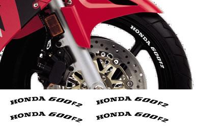 Honda Rim Decal set 600F2