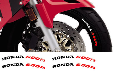 Honda Rim Decal set 600F3 2 Colour