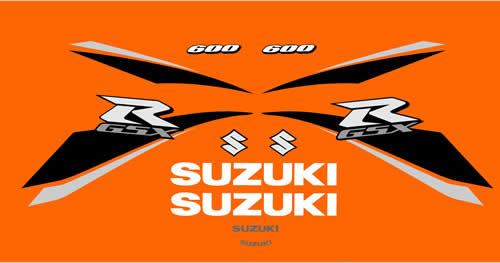 Suzuki K9 600 Decal and Graphics 2009