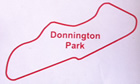 Donnington Park Circuit Map Decal