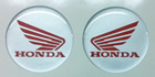 Honda Wing domed tank badges