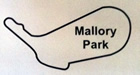 Mallory Park Circuit Map Decal