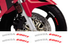 Honda Rim Decal set 600F2 2 Colour