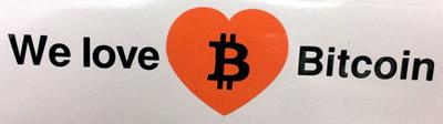 We Love Bitcoin Decal