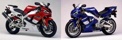 Yamaha  R1 1999 Red and Blue Bike